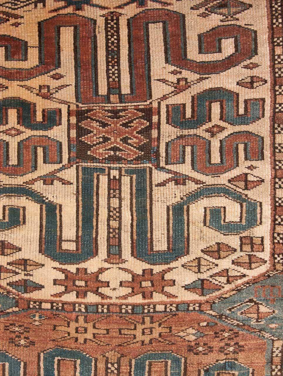 kazak russland gr sse 234 cm x 107 cm derteppich. Black Bedroom Furniture Sets. Home Design Ideas