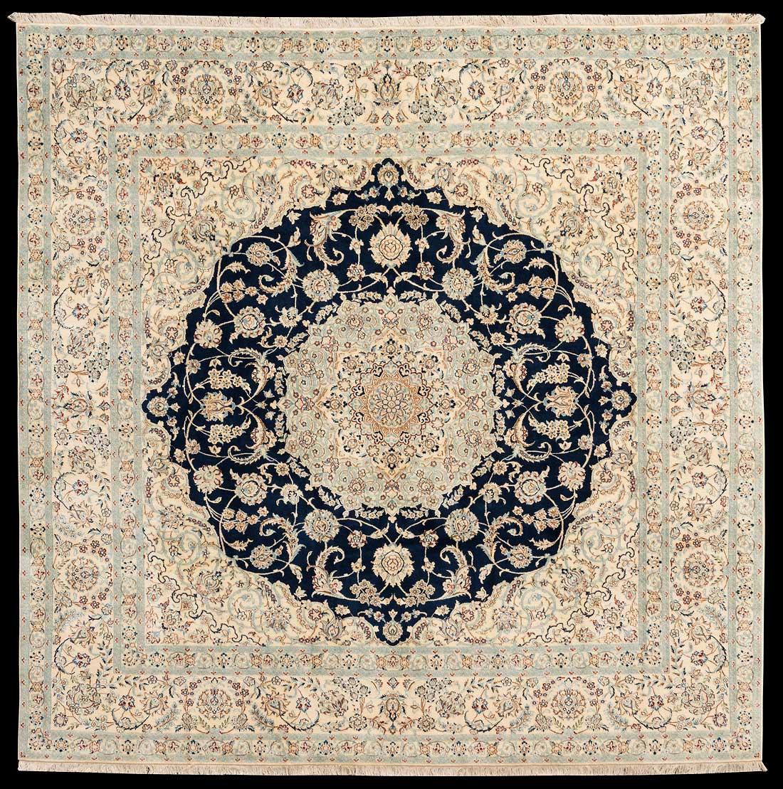 teppich nr 25886 nain persien gr sse 246 cm x 246 cm teppich mesgarzadeh www. Black Bedroom Furniture Sets. Home Design Ideas